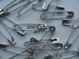 Safety pins DUPLEX silver 32mm 250pcs