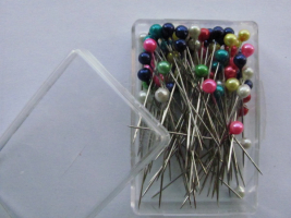 Pearlized Ball Head Pins MIX, 0,60x38mm 80 Count