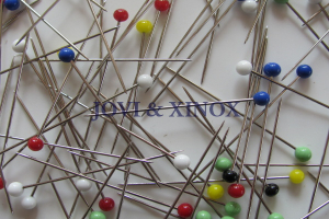 Quilting Pins 48mm, Glass Head, by XINOX - 50 pcs.