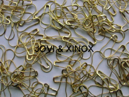 Safety pin PEAR SHAPE 0,70 x 22mm GOLD 125pcs.