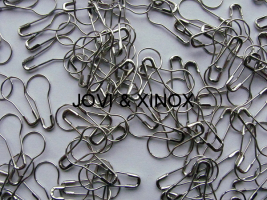 Safety pin PEAR SHAPE 0,70 x 22mm SILVER 125pcs.