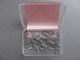 Stainless steel pins with SILVER HEAD 0,59x26mm 50pcs