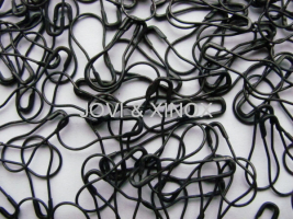 Safety pin PEAR SHAPE 0,70 x 22mm BLACK 1.000pcs.