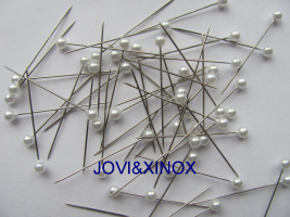 Pearlized Ball Head Pins WHITE, 0,60x38mm 1000 Count