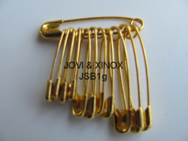 Safety pins bundled 19,22,28mm GOLD, 12pcs