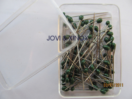 Stainless steel pins 0.59 x31mm PEARL GREEN 100pcs