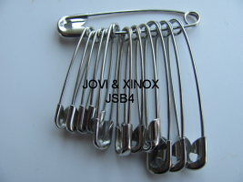 Safety pins bundled 32,38,45mm SILVER, 12pcs