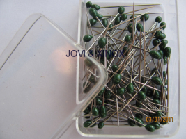 Stainless steel pins 0.59 x31mm PEARL GREEN 200pcs
