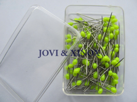 Stainless steel pins 0.59 x31mm NEON YELLOW 100pcs