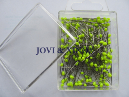 Stainless steel pins 0.59 x31mm NEON YELLOW 200pcs