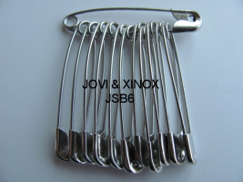 Safety pins bundled 38mm SILVER, 12pcs