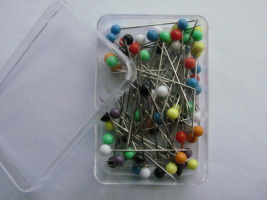 Pins with plastic heads 0,60 x 32mm MIX 80pcs